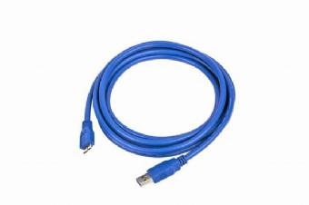 GEMBIRD Kabel USB A-B micro 1,8m 3.0, modrý