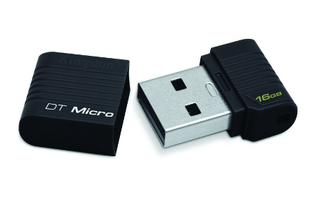 Kingston DataTraveler Micro 16GB USB 2.0 flashdisk, černý