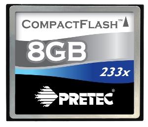 Pretec 8 GB CompactFlash 233x