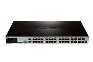 D-Link xStack 24-port 10/100/1000 Layer 2+ Stackable Managed Gigabit Switch