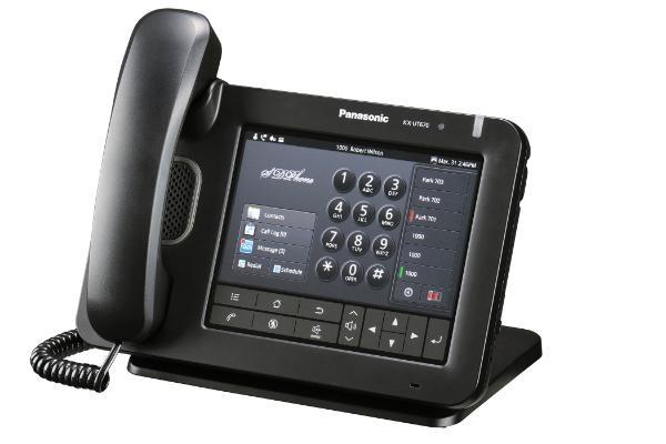 """Panasonic KX-UT670NE, chytrý stolní IP telefon, 7"""" LCD, černý"""