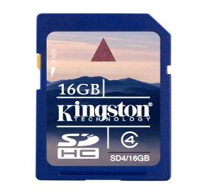 KINGSTON 16GB SDHC Memory Card - High Capacity Class 4