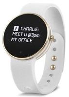 Swisstone chytré hodinky SW400, Bluetooth, senzor UV záření, zlatá