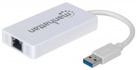 MANHATTAN USB 3.0 3-Port Hub with Gigabit Ethernet Adapter