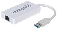 MANHATTAN USB 3.0 3-Port Hub with Gigabit Ethernet Adapter