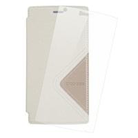 DOOGEE flipové pouzdro pro DOOGEE X5 MAX PRO, bílé