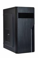 EUROCASE skříň ML X402 black, 2x USB, 2x audio, bez zdroje