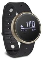 Swisstone chytré hodinky SW500, Bluetooth, senzor UV záření, zlatá