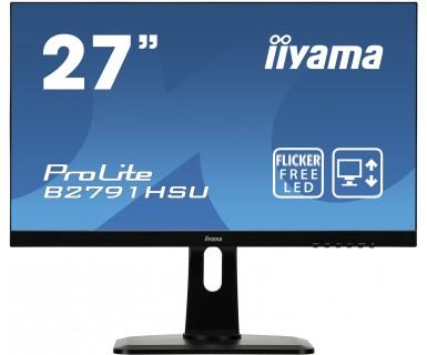 """27"""" LCD iiyama B2791HSU-B1 - 1ms,300cd/m2,1000:1,FHD,VGA,DP,HDMI,USB,repro,pivot,výš.nastav.,černý"""