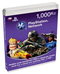 SONY PlayStation Live Cards CZK1000