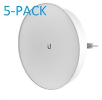 UBNT airMAX PowerBeam M5 ISO 2x25dBi, 5-PACK [400mm, Client/AP/Repeater, 5GHz, 802.11a/n, 10/100/1000 Ethernet]