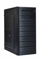 EUROCASE skříň ML X403 black, 2x USB, 2x audio, bez zdroje