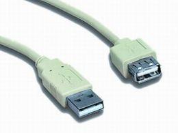 Kabel USB A-A 1,8m 2.0 prodlužovací