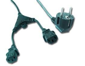 Kabel napájecíl rozdvojka 1,8m VDE 220/230V