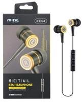 PLUS Bluetooth stereo sluchátka K3394 s ovládáním na kabelu, černá