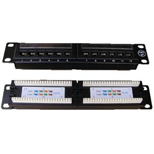 "Patch panel 10"" UTP cat5e 12portů"