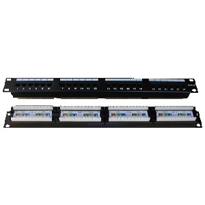DATACOM Patch panel 24p. CAT6 1U,4x6 LSA, UTP, 19""