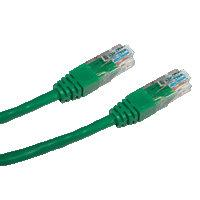 DATACOM patch cord UTP cat5e 0,5M zelený