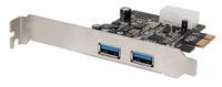 MANHATTAN USB 3.0 PCI Express Card, Two external SuperSpeed USB 3.0 ports, x1 lane