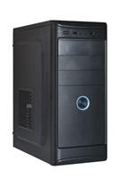 EUROCASE skříň ML X401 black, 2x USB, 2x audio, bez zdroje