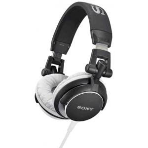 SONY MDR-V55 DJ Skládací sluchátka s 40mm reproduktory, neodymovým magnetem a kabelem dlouhým 1,2 m - BLACK
