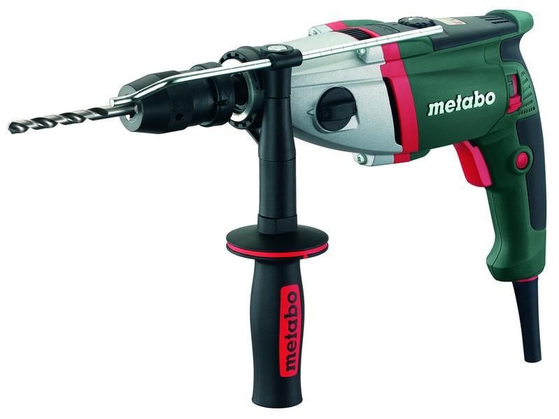 Metabo SBE 1100 Plus Príklepová vŕtačka 1100W, dvojrýchlostná s elektronikou, v kufríku