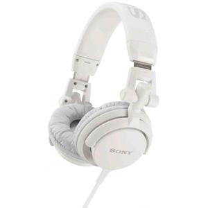 SONY MDR-V55 DJ Skládací sluchátka s 40mm reproduktory, neodymovým magnetem a kabelem dlouhým 1,2 m - WHITE