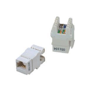 UTP Keystone Cat6 bílý Dual Slim zadní zářez