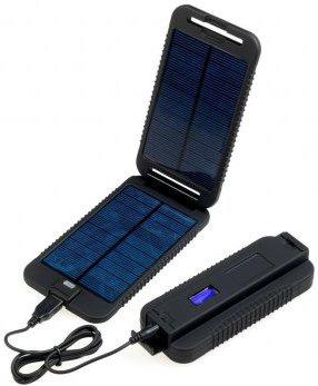 Solární outdoorová záložní nabíječka Powermonkey-eXtreme: panely + powerbank 9000mAh (černá)