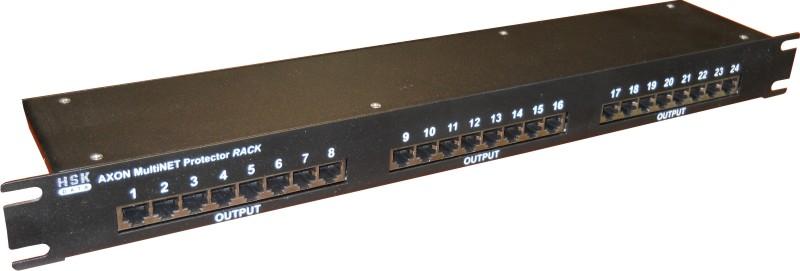 Přepěťová ochrana AXON MultiNET 24xRJ45 Rack