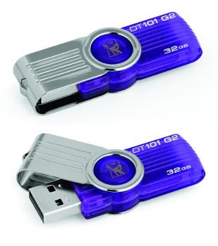 KINGSTON 32GB DataTraveler 101 Generace 2 (Fialový)