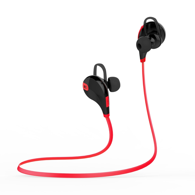 EVOLVEO SportLife XS3, Bluetooth stereo sluchátka s mikrofonem, červeno-černé