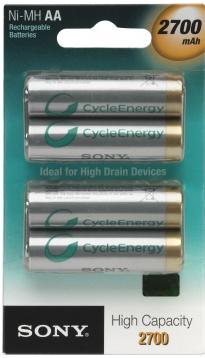 SONY Dobíjecí baterie NiMH, 2700 mAh, AA, 4 ks v blistru