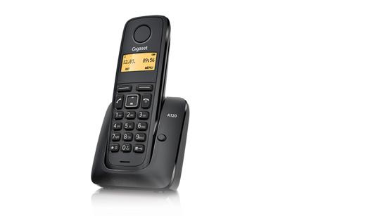 SIEMENS Gigaset A120-BLACK - DECT/GAP bezdrátový telefon, barva černá