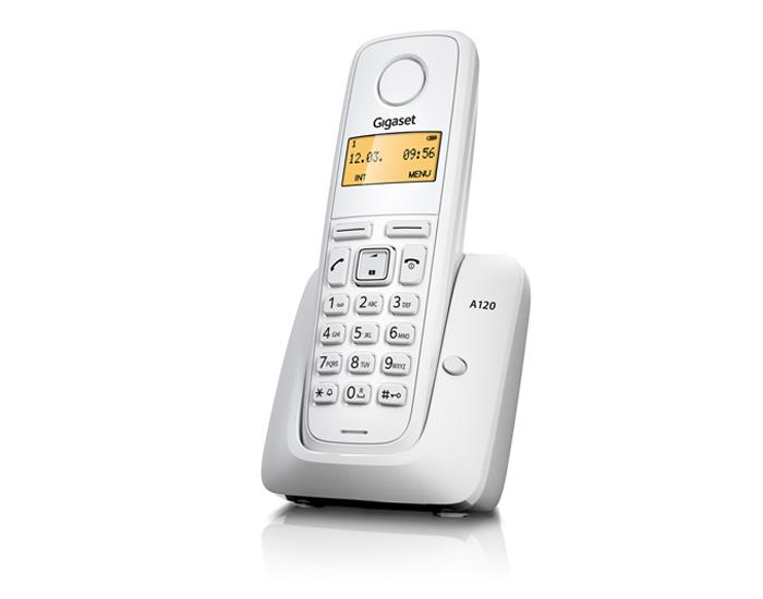 SIEMENS Gigaset A120-WHITE - DECT/GAP bezdrátový telefon, barva bílá