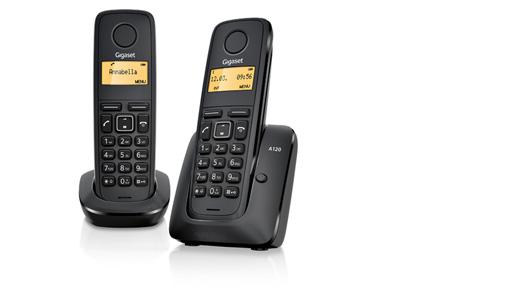 SIEMENS Gigaset A120-DUO - DECT/GAP bezdrátový telefon, barva černá