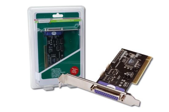 Digitus adaptér PCI 2x sériový port + 1x paralelní (+ low profile)