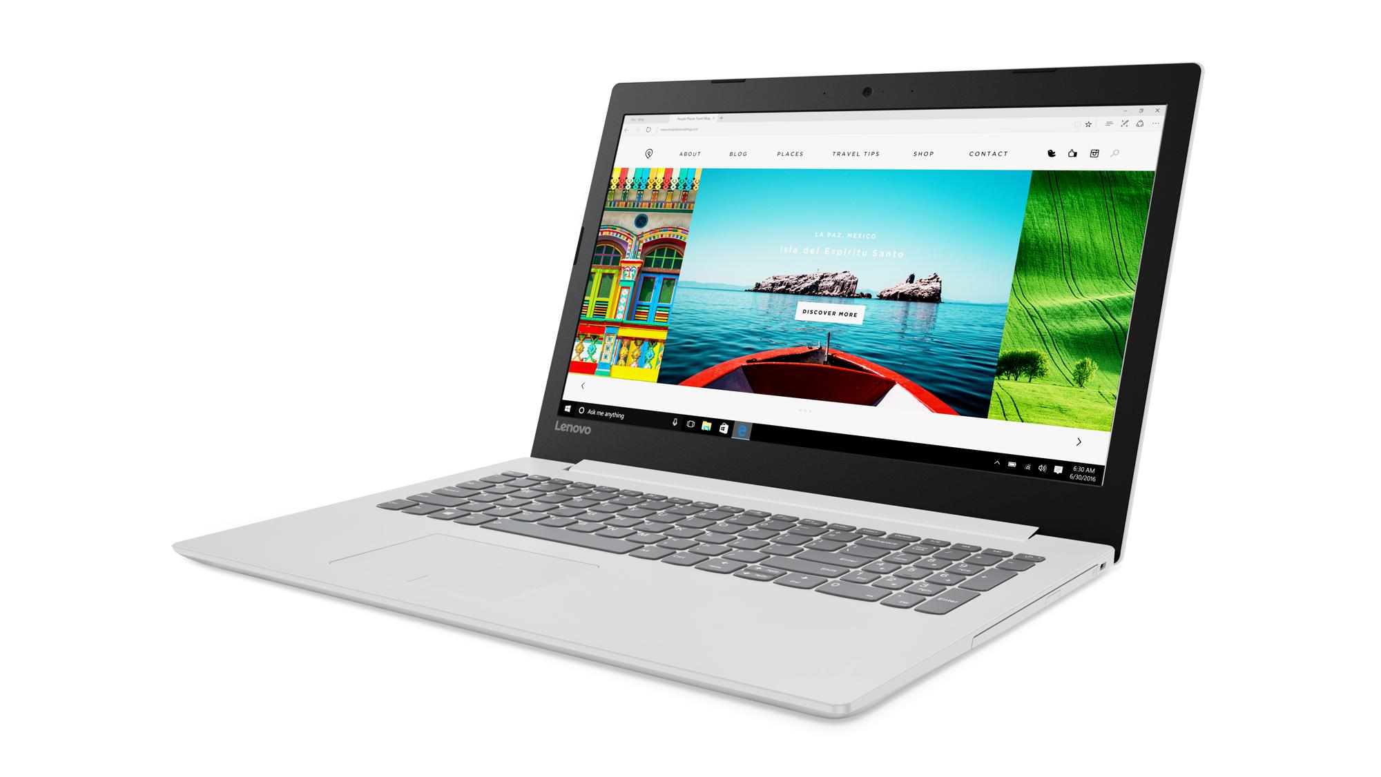 """Lenovo IdeaPad 320-15ISK i3-6006U 3,10GHz/4GB/SSD 128GB/15,6"""" FHD/AG/GeForce 2GB/WIN10 bílá 80XH003PCK"""