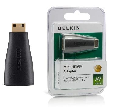 BELKIN HDMI - Mini HDMI redukce (F/M) Gold