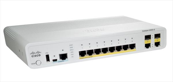 Cisco WS-C2960C-8PC-L (8xFE PoE,2xDL, LAN Base)