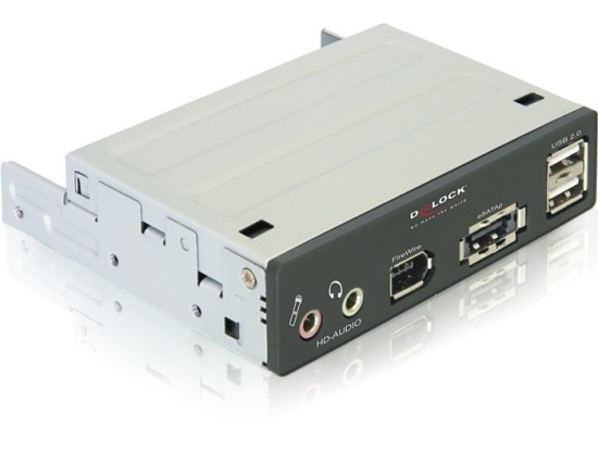 Delock 3.5'' čelní panel eSATA/USB 2.0/FireWire/HD-Audio