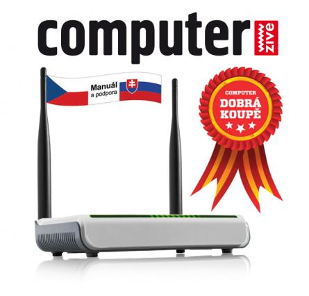 Tenda W308R Wireless-N Router, 802.11b/g/n, 2,4 GHz, 300 Mb/s, 1x WAN, 4x LAN, 2x Fix. Ant. 5 dBi