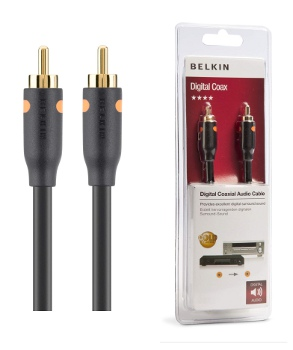 BELKIN Koaxiální digitální audio kabel RCA Gold,2m