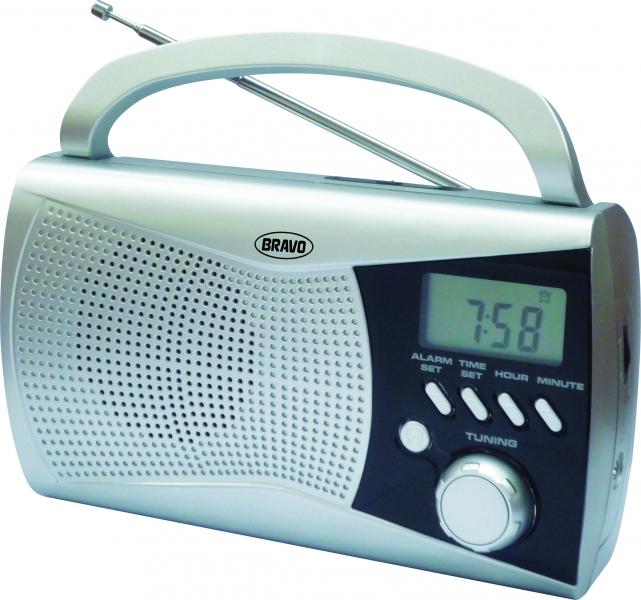 Rádio přenosné Bravo B 6010 stříbrné