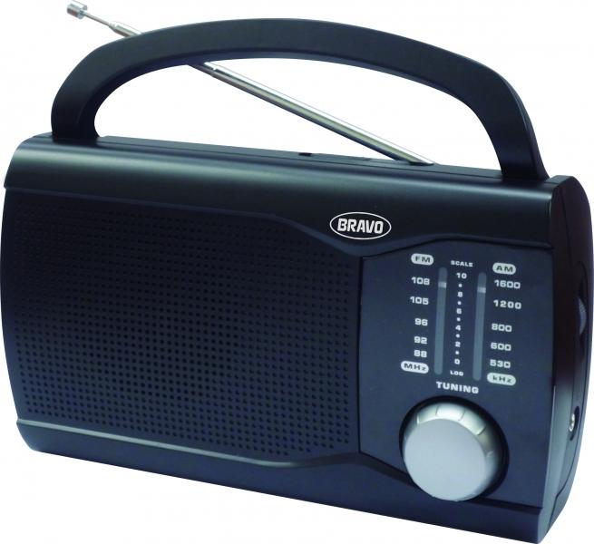 Rádio přenosné Bravo B 6009 černé