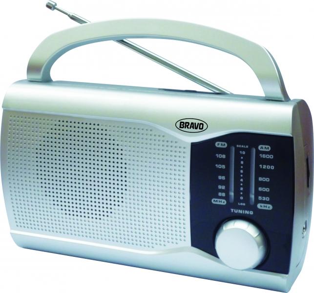 Rádio přenosné Bravo B 6009 stříbrné