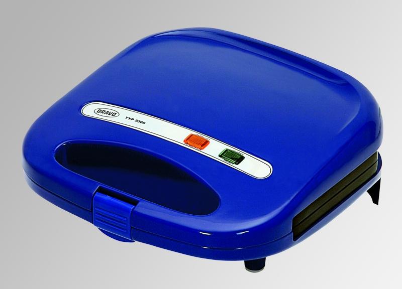 Sendvičovač Bravo B 2305 čtverec, modrý