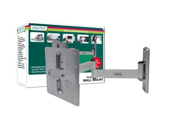Digitus VESA (75/100/200) držák na zeď otočný, natáčecí, 32 kg