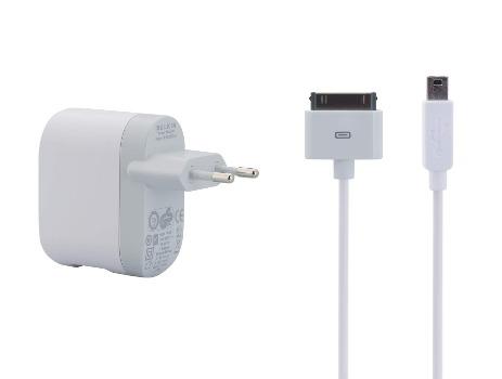 Belkin USB 230V nabíječka 1A - 5V + 30 pin Apple kabel