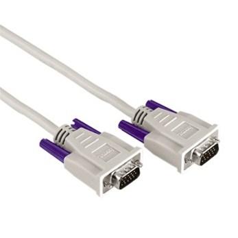 Hama VGA propojovací kabel, 15pin., 3m, šedý